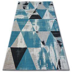 Koberec LISBOA 27216/754 Trojúhelníky Tyrkysový