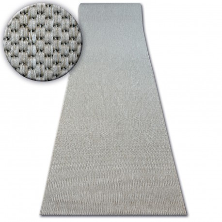 Béhoun SISAL FLOORLUX model 20433 stříbro HLADKÝ