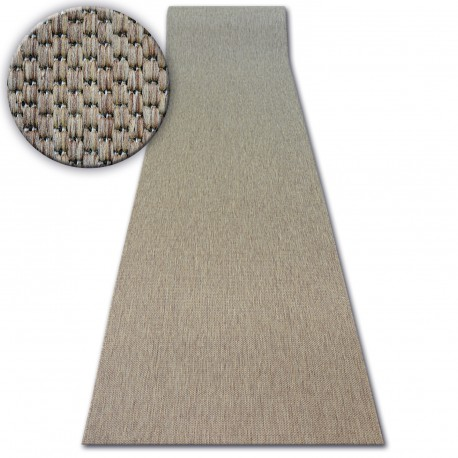 Béhoun SISAL FLOORLUX model 20433 coffee HLADKÝ