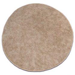 Koberec kruh SERENADE svetle hnědý