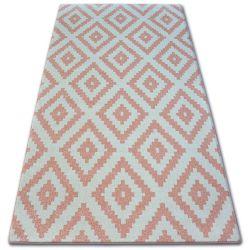 Koberec SKETCH - F998 růžový/krém - čtverců