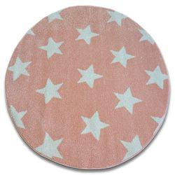 Koberec SKETCH kruh - FA68 růžový/krém - Hvězda