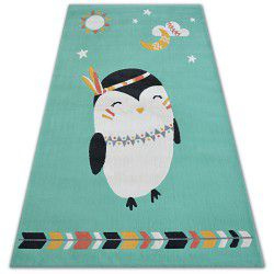 Koberec PASTEL 18401/043 - tučňák zelená