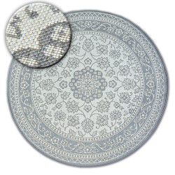 Koberec kruh FLAT 48691/637 SISAL - vitráže