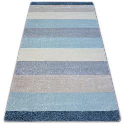 Koberec NORDIC pásy krém/modrý G4577