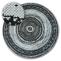 Koberec kruh FLAT 48756/960 SISAL - vitráže