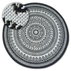 Koberec kruh FLAT 48695/690 SISAL - vitráže