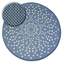 Koberec kruh FLAT 48715/591 SISAL - vitráže