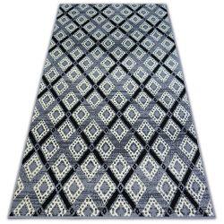 Koberec BCF BASE DIAMONDS 3869 čtverce šedá/černá