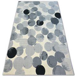 Koberec SCANDI 18461/752 - kruh krém šedá černá