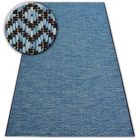 Koberec SISAL LOFT 21144 černý/stříbrný/modrý