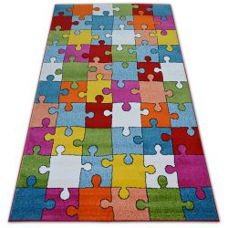 Koberec PAINT - G4775 Puzzle krém/modrý