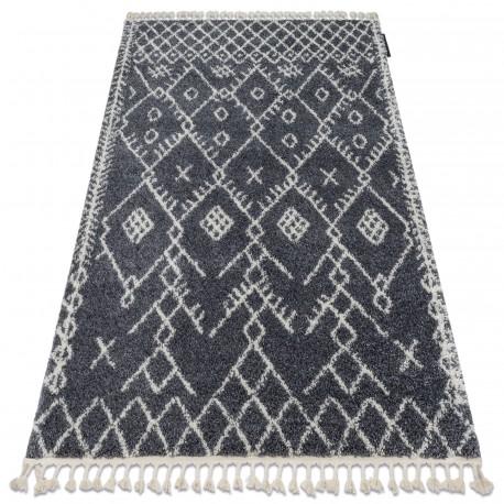 Koberec BERBER TANGER B5940 šedá / bílá Třepení berber maročtí shaggy