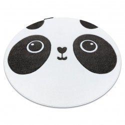 Koberec PETIT PANDA kruh bílá