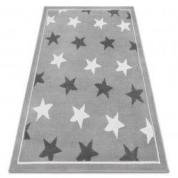 Koberec BCF ANNA Stars 3105 hvězdy šedá / tmavošedý