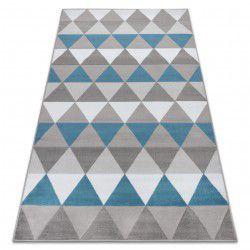 Koberec BCF ANNA Triangles 2965 trojúhelníky modrý