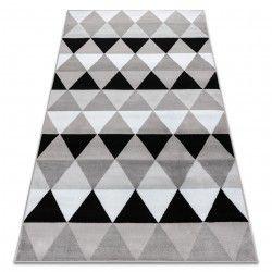 Koberec BCF ANNA Triangles 2965 trojúhelníky šedá