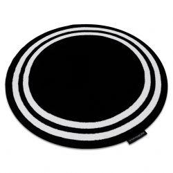 Koberec HAMPTON rám kruh černý