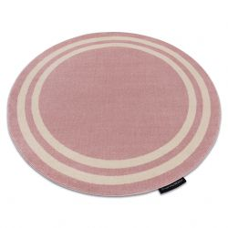 Koberec HAMPTON rám kruh růžový