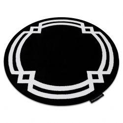 Koberec HAMPTON Lux kruh černý