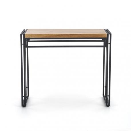 Stůl BOLIVAR KN-1 zlato / černý