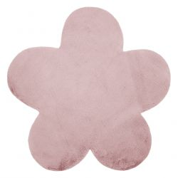 Koberec NEW DOLLY květ G4372-8 růžový IMITACE RABBIT FUR