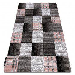 Koberec ALTER Siena čtverce mřížoví šedá