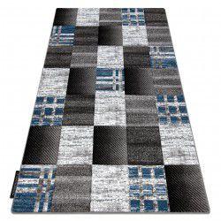 Koberec ALTER Siena čtverce mřížoví modrý