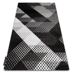 Koberec INTERO BALANCE 3D Tečky šedá