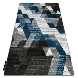 Koberec INTERO TECHNIC 3D diamanty trojúhelníky modrý