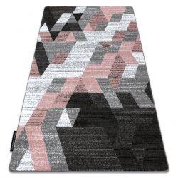 Koberec INTERO TECHNIC 3D diamanty trojúhelníky růžový
