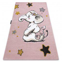 Koberec PETIT ELEPHANT SLON HVĚZDA růžový