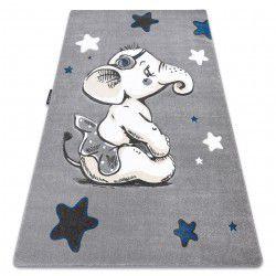 Koberec PETIT ELEPHANT SLON HVĚZDA šedá