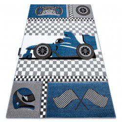 Koberec PETIT RACE FORMULA 1 AUTO modrý