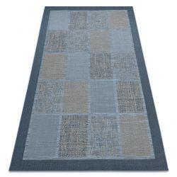Koberec FORT SISAL 36214035 modrý čtverce