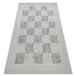 Koberec FORT SISAL 36217051 šachovnice modrý / béžový