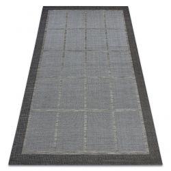Koberec FORT SISAL 36218094 šedá čtverce rám