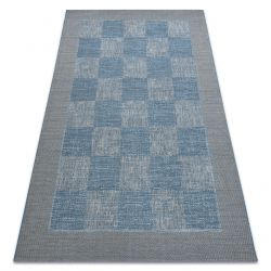 Koberec FORT SISAL 36217835 šachovnice modrý