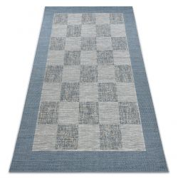Koberec FORT SISAL 36217533 šachovnice béžový / modrý