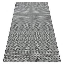 Koberec FLAT SISAL 48603690 Voštinový bílá černý