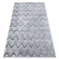 Koberec Structural SIERRA G5010 ploché tkané šedá - geometrický, zigzag