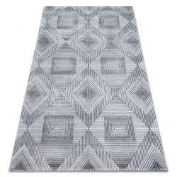 Koberec Structural SIERRA G5011ploché tkané šedá / černý - geometrický, diamanty