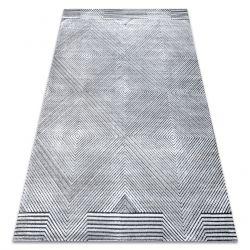 Koberec Structural SIERRA G5012 ploché tkané šedá - geometrický, diamanty