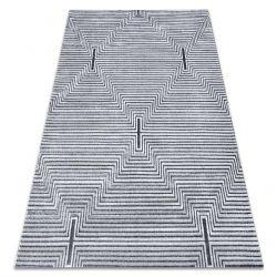 Koberec Structural SIERRA G5018 ploché tkané šedá - proužky, diamanty