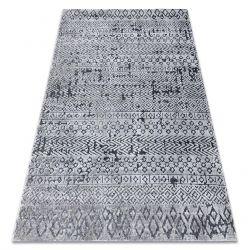 Koberec Structural SIERRA G6042 ploché tkané šedá - geometrický, etnický
