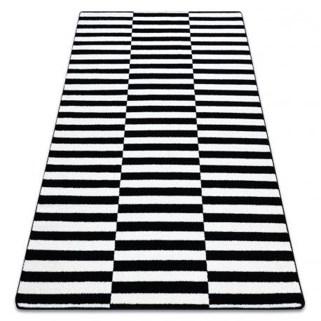 Koberec SKETCH - F132 bílá/ černá - pásky