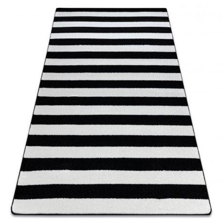 Koberec SKETCH - F758 bílá/ černá - pásky