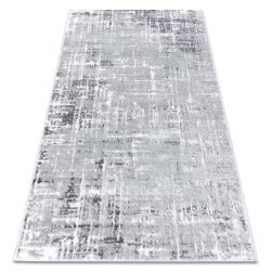 Moderní koberec MEFE 8722 Čáry vintage - Structural dvě úrovně rouna šedá / bílá