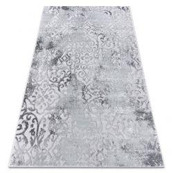 Moderní koberec MEFE 8724 Ornament vintage - Structural dvě úrovně rouna šedá