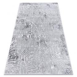 Moderní koberec MEFE 8725 Kruhy Otisk prstu - Structural dvě úrovně rouna šedá